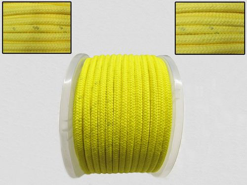 10MM x 65 Metre Yellow Kernmantle Polypropylene Rope - 16 Plait Double Braided PP